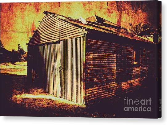 Dilapidated Canvas Print - Weathered Vintage Rural Shed by Jorgo Photography - Wall Art Gallery