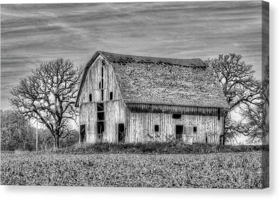 Weathered Wood Of Iowa Canvas Print