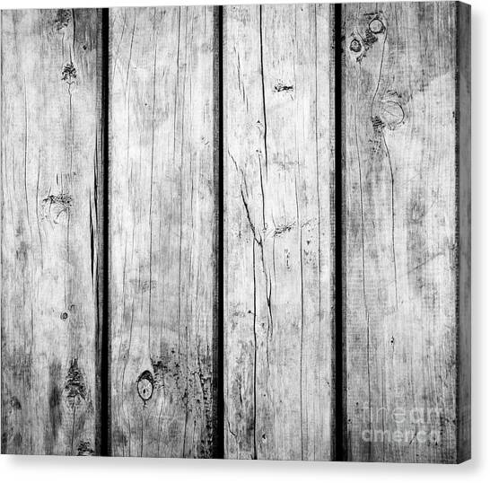 Canvas Print featuring the photograph Weathered Wooden Background Black And White by Tim Hester