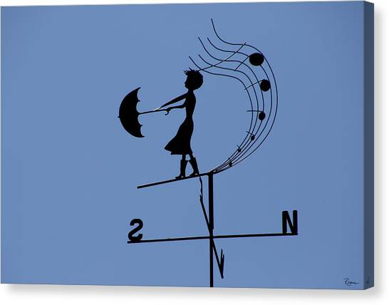 Weathergirl Canvas Print