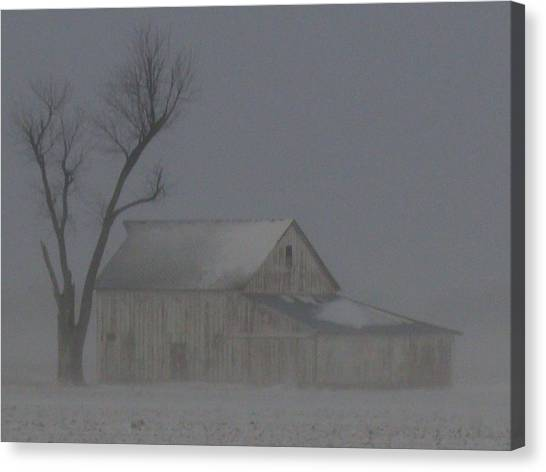 Weathering The Blizzard Canvas Print