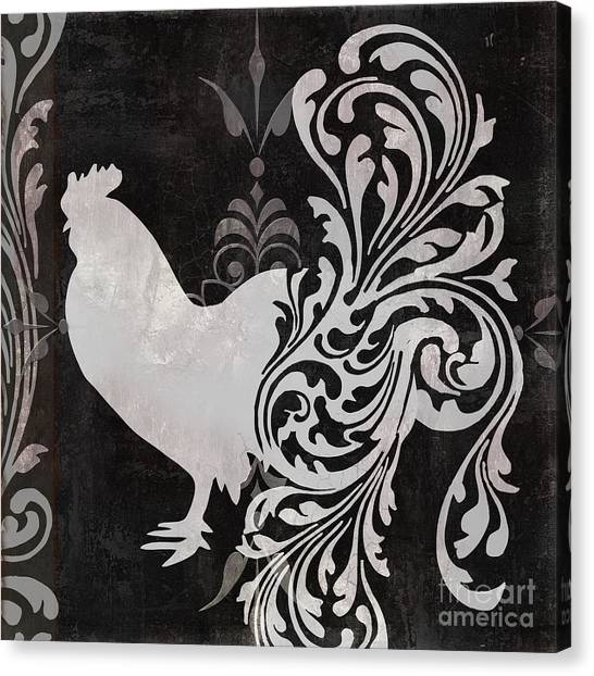 Roosters Canvas Print - Weathervane I by Mindy Sommers