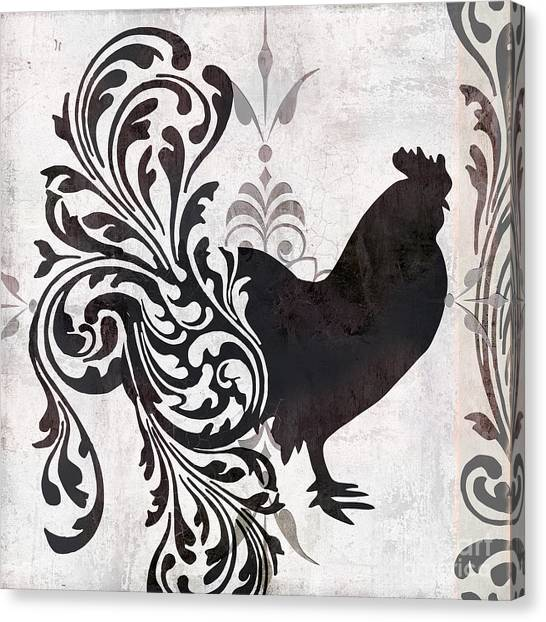 Black And White Rooster Prints