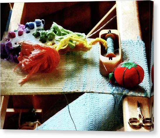 Sissors Canvas Print - Weaving Supplies by Susan Savad