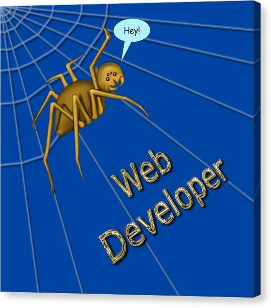 Web Developer Canvas Print