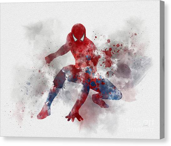 Spider Web Canvas Print - Web Head by Rebecca Jenkins