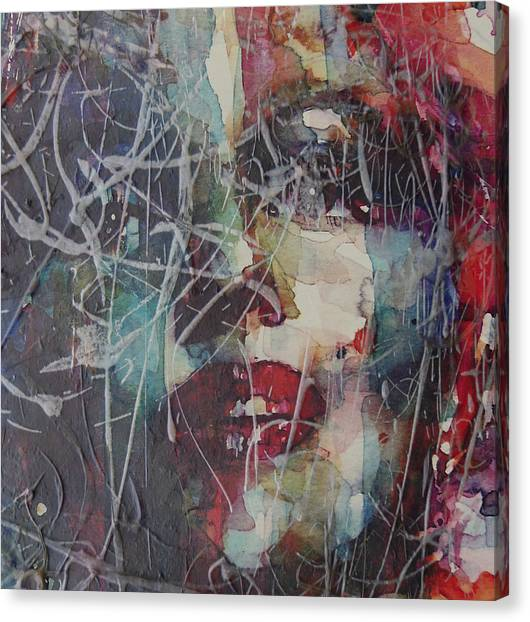 Blonde Canvas Print - Web Of Deceit by Paul Lovering