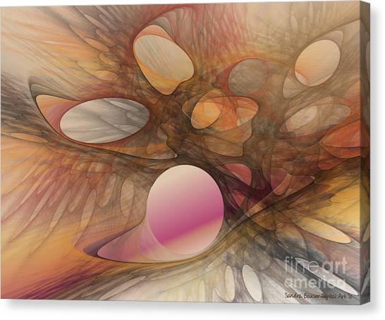 Web Of Dimensions Canvas Print by Sandra Bauser Digital Art