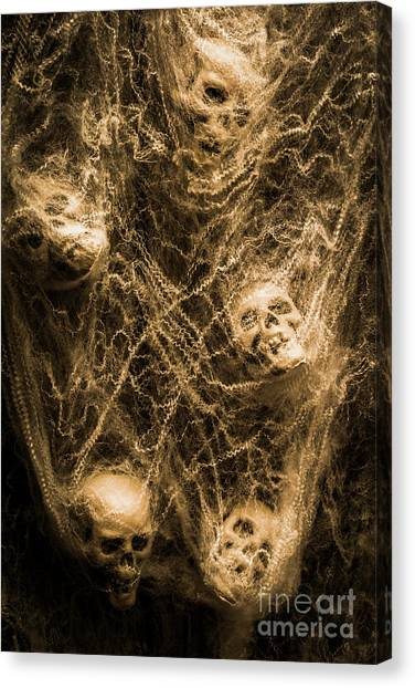 Death Canvas Print - Web Of Entrapment by Jorgo Photography - Wall Art Gallery