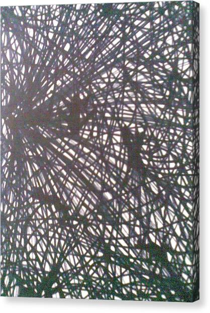 Webbed Canvas Print by Lalhmunlien Varte