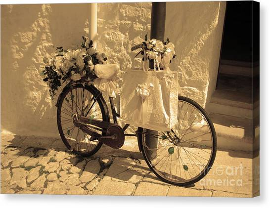 Wedding Bike Canvas Print