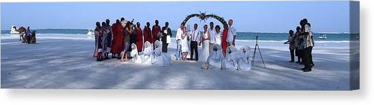 Exploramum Canvas Print - Wedding Complete Panoramic Kenya Beach by Exploramum Exploramum