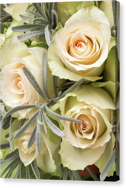 Wedding Bouquet Canvas Print - Wedding Flowers by Wim Lanclus
