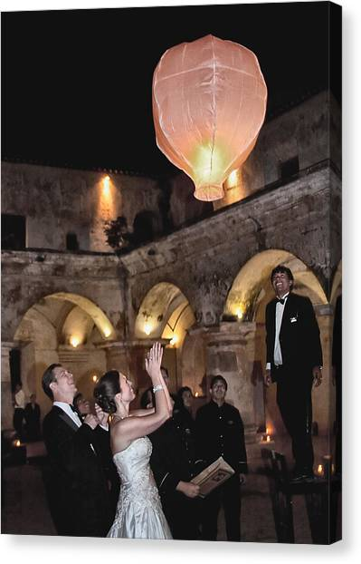 Wedding Globos Canvas Print by David April