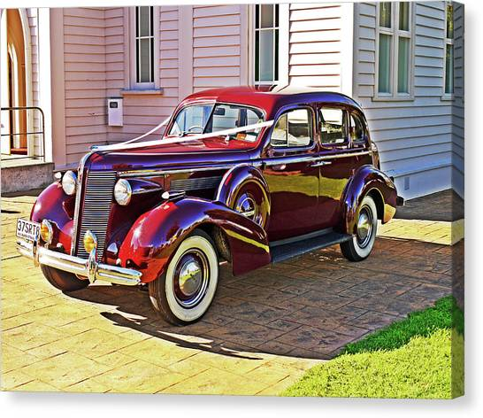 Wedding Limousine Canvas Print by Kenneth William Caleno