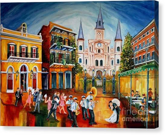 Groom Canvas Print - Wedding New Orleans' Style by Diane Millsap
