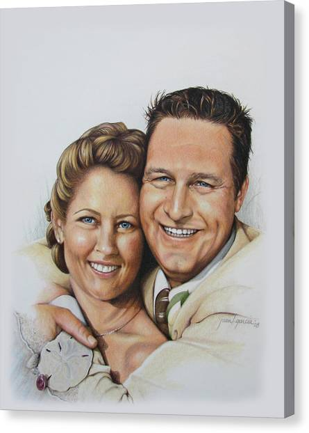 Wedding Portrait Jeremy N Katie Canvas Print