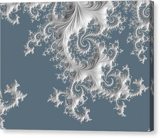 Canvas Print featuring the digital art Wedgwood by Susan Maxwell Schmidt