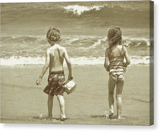 Wee Beachcombers Canvas Print by JAMART Photography