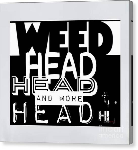 Taylor Swift Canvas Print - Weed Head by HI Level