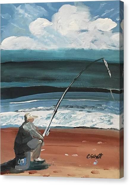 Weekend Fisherman Canvas Print