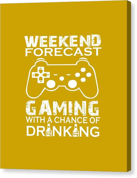Gameboy Canvas Print - Weekend Forecast Gaming by Sophia