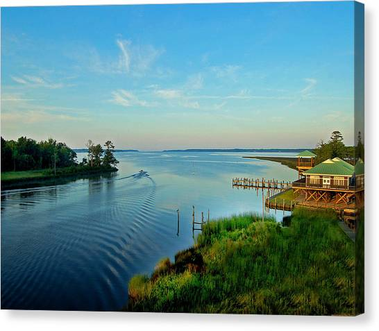 Weeks Bay Going Fishing Canvas Print