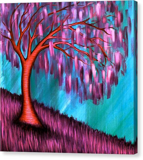 Weeping Willow II Canvas Print by Brenda Higginson