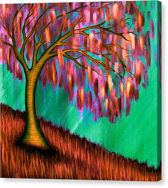 Weeping Willow IIi Canvas Print by Brenda Higginson