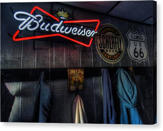 Hamels Canvas Print - Weezys Route 66 Bar And Grill by Kevin Schuchmann