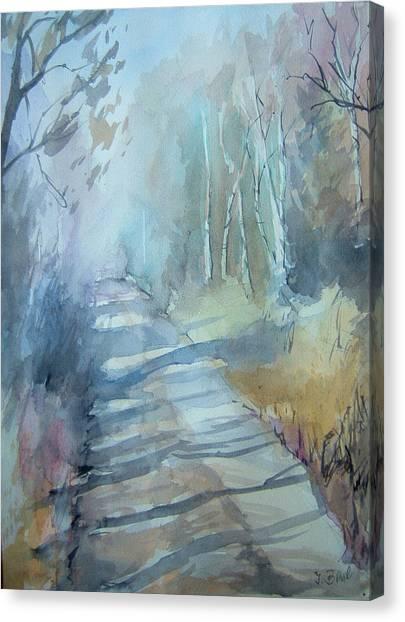Weg Zum Entenweiher Canvas Print by Johannes Baul