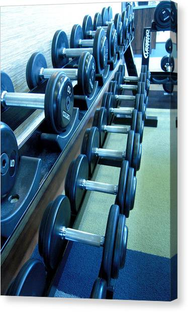 Weights Vertical Canvas Print