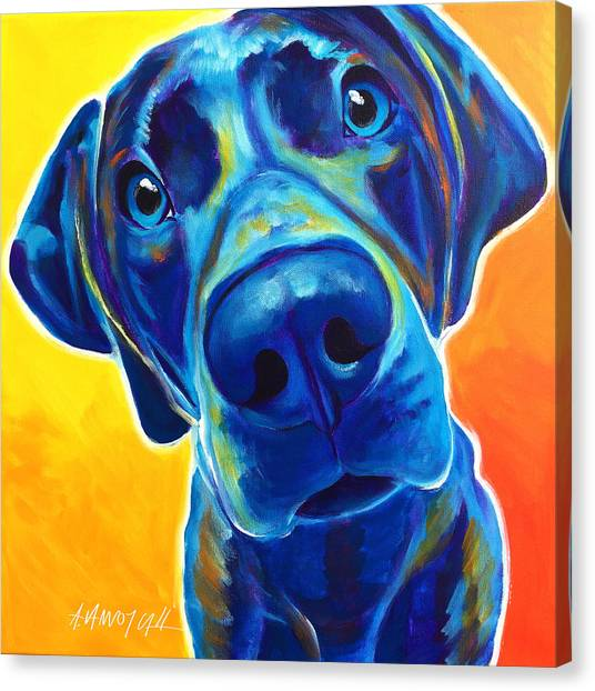 Weimaraners Canvas Print - Weimaraner - Bentley by Alicia VanNoy Call