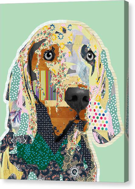 Weimaraners Canvas Print - Weimaraner Collage by Claudia Schoen