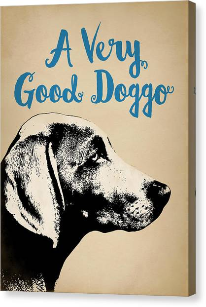 Weimaraners Canvas Print - Weimaraner Good Doggo by Flo Karp