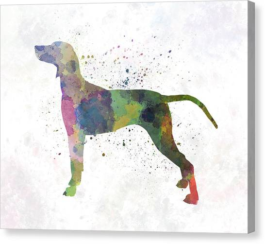 Weimaraners Canvas Print - Weimaraner In Watercolor by Pablo Romero