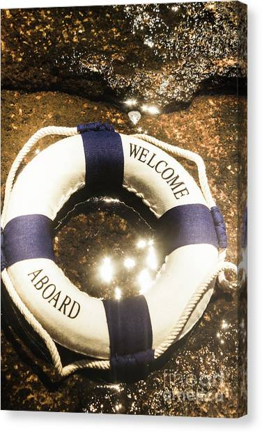 Lifeguard Canvas Print - Welcome Aboard Nautical Paradise by Jorgo Photography - Wall Art Gallery