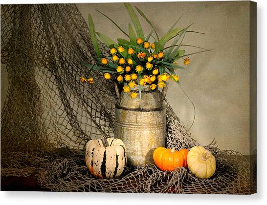 Still Life With Fish Canvas Print - Welcome Autumn by Diana Angstadt