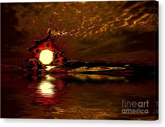 Welcome Beach Sunset 2 Series 1 Canvas Print