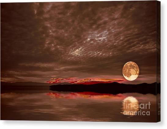 Welcome Beach Supermoon Canvas Print