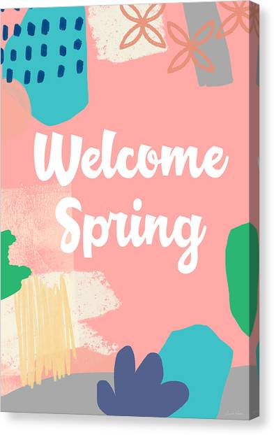Easter Canvas Print - Welcome Spring- Colorful Art By Linda Woods by Linda Woods