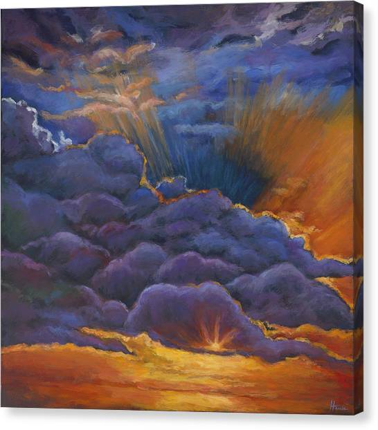 Desert Sunset Canvas Print - Welcome The Night by Johnathan Harris