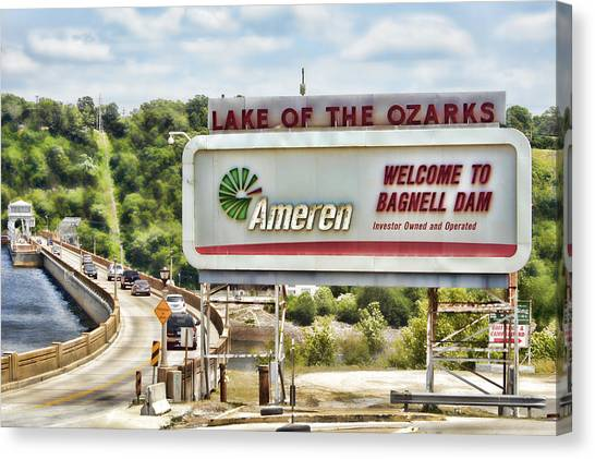 Welcome To Bagnell Dam Canvas Print