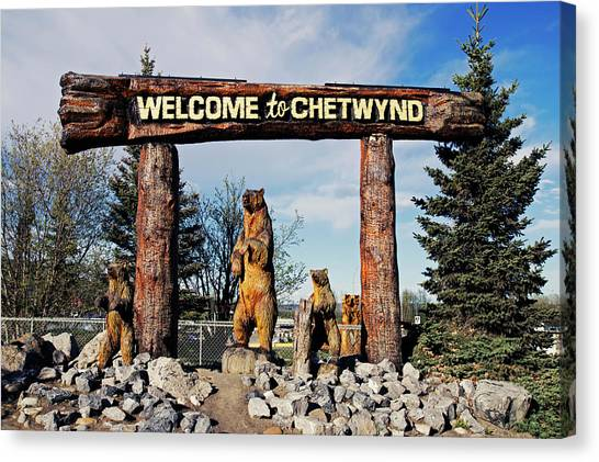 Welcome To Chetwynd Canvas Print by Robert Braley