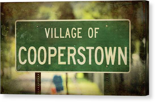 Mickey Mantle Canvas Print - Welcome To Cooperstown by Stephen Stookey