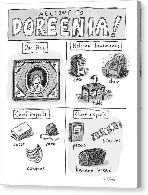 Welcome To Doreenia Canvas Print