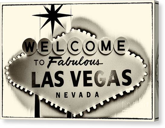 Welcome To Fabulous Las Vegas Nevada Canvas Print