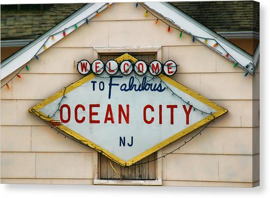 Welcome To Fabulous Ocean City N J Canvas Print