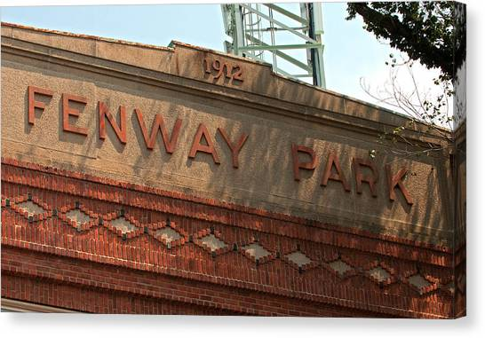 Welcome To Fenway Park Canvas Print