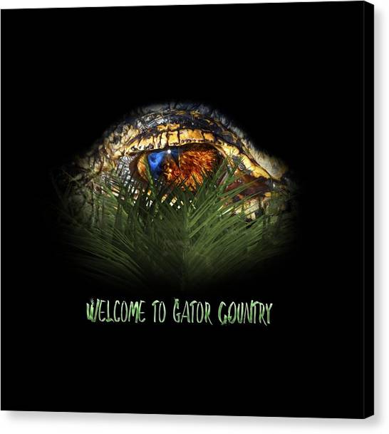 University Of Florida Canvas Print - Welcome To Gator Country Design by Mark Andrew Thomas